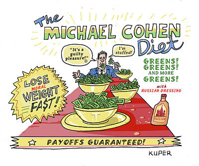 Drawing - Michael Cohen Diet by Peter Kuper