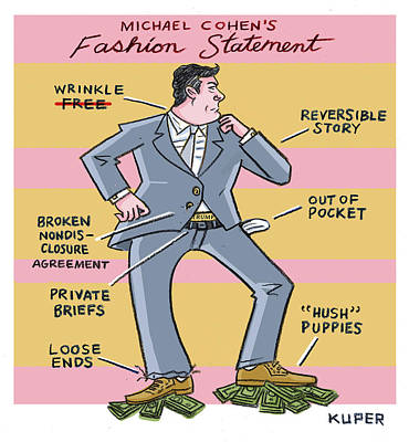 Drawing - Michael Cohens Fashion Statement by Peter Kuper