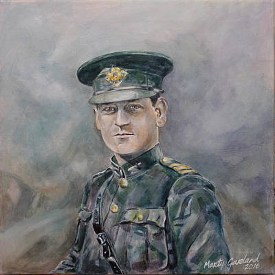 Marty Painting - Michael Collins by Marty Garland