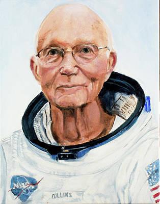 Michael Collins Art Print by Simon Kregar