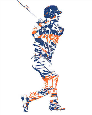 New York Mets Mixed Media - Michael Conforto New York Mets Pixel Art 2 by Joe Hamilton