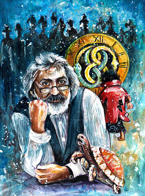 Painting - Michael Ende by Miki De Goodaboom