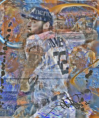 Detroit Tigers Digital Art - Michael Fulmer by Donald Pavlica