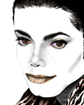 Jacko Painting - Michael J by Reggie Duffie