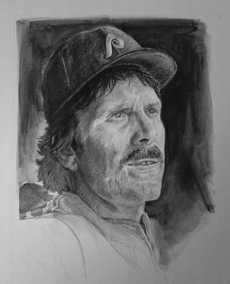 Philadelphia Phillies Mike Schmidt Drawing - Michael Jack by Paul Autodore