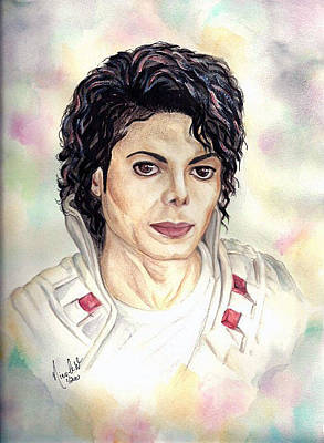Michael Jackson Painting - Michael Jackson - Captain Eo by Nicole Wang