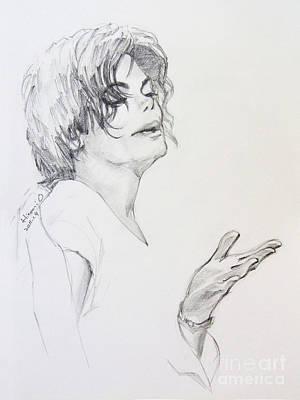 Mj Drawing - Michael Jackson - In 2001 Ny by Hitomi Osanai
