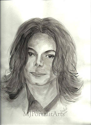 Singer Painting - Michael Jackson - One More Chance by Nicole Wang