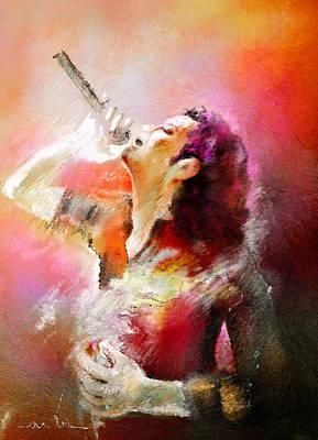 Music Paintings - Michael Jackson 05 by Miki De Goodaboom