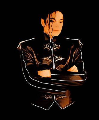 Overdose Digital Art - Michael Jackson 4b by Brian Reaves