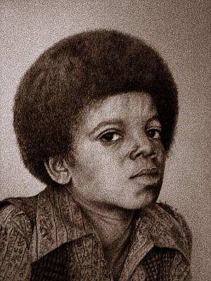 Young Michael Jackson Drawing - Michael Jackson 5 by Sean Leonard