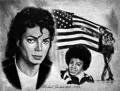 Afro American Art Drawing - Michael Jackson by Andrew Read