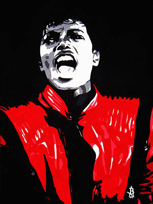 Mj Painting - Michael Jackson by Angelee Borrero
