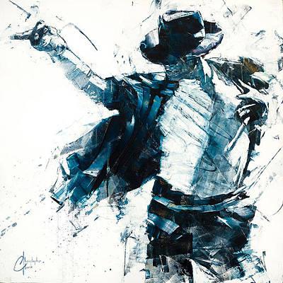 Michael Jackson Oil Painting - Michael Jackson Billie Jean by Christopher Clark