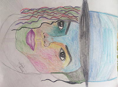 Michael Jackson Color Pencil Sketch Art Print
