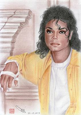 Drawing - Michael Jackson - Come Together by Eliza Lo