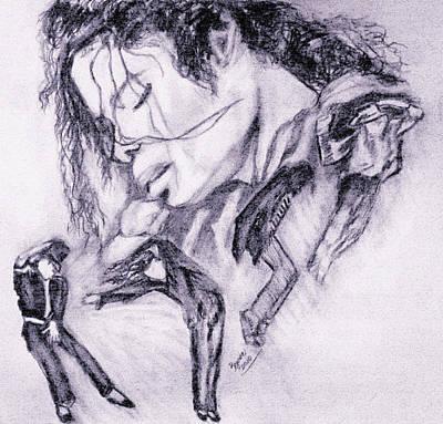 Drawing - Michael Jackson Dance by Regina Brandt