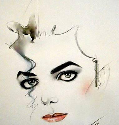 The Eyes Of Michael Jackson Art Print