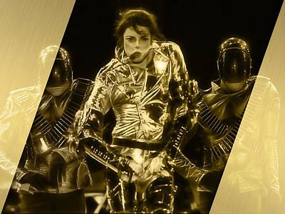 Michael Jackson Gold Art Print