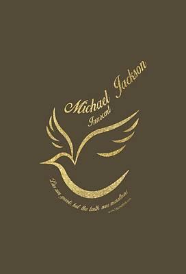 Michael Jackson Mixed Media - Michael Jackson Golden Dove by D Francis