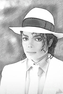 Photograph - Michael Jackson In Pen And Ink  by Doc Braham