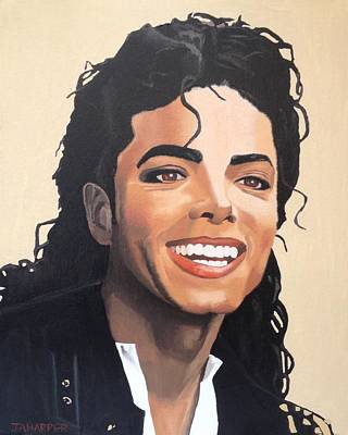 Michael Jackson Oil Painting - Michael Jackson by Jill Ann Harper