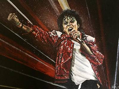 Painting - Michael Jackson by Joel Tesch