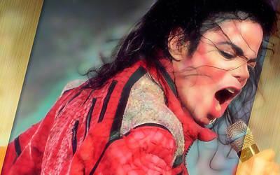 Michael Jackson Mixed Media - Michael Jackson King Of Pop by Marvin Blaine