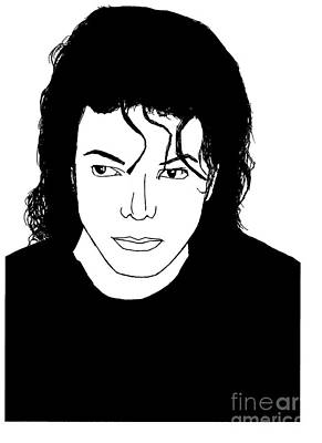 Mj Drawing - Michael Jackson by Lionel B