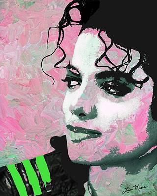 Musician Digital Art - Michael Jackson Pink by Linda Mears