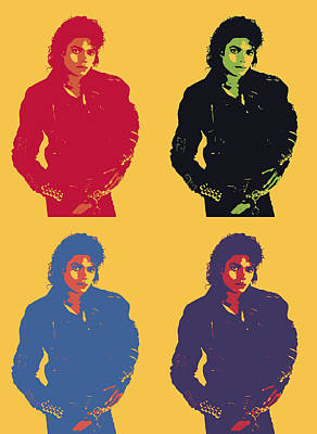 Michael Jackson Digital Art - Michael Jackson Pop Art Panels by Dan Sproul