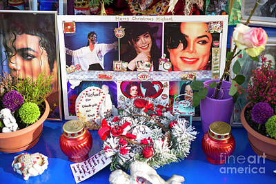 Michael Jackson Shrine Art Print by John Rizzuto