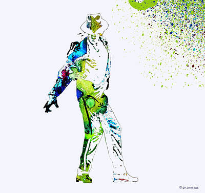 Michael Jackson Mixed Media - Michael Jackson by Sir Josef - Social Critic -  Maha Art