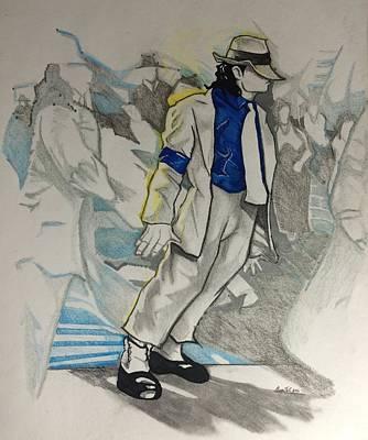 Michael Jackson - Smooth Criminal  Art Print by Gregory Taylor