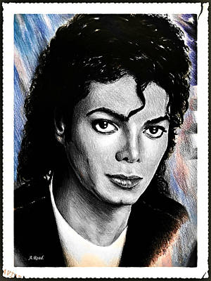 Michael Jackson Stamp Design Art Print