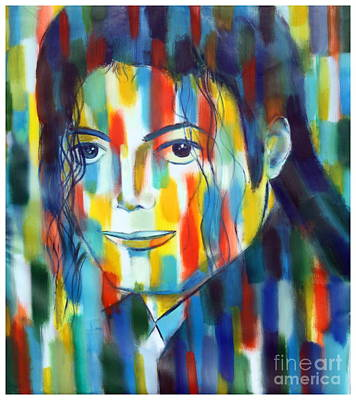 Michael Jackson  The Man In Color Art Print by Habib Ayat