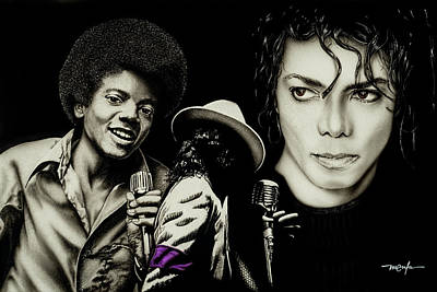 Michael Jackson - The Man In The Mirror Art Print