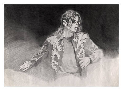 Michael Jackson Drawing - Michael Jackson This Is It by Hitomi Osanai