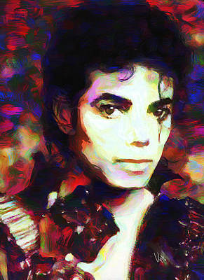 Michael Jackson Oil Painting - Michael Jackson by Vya Artist
