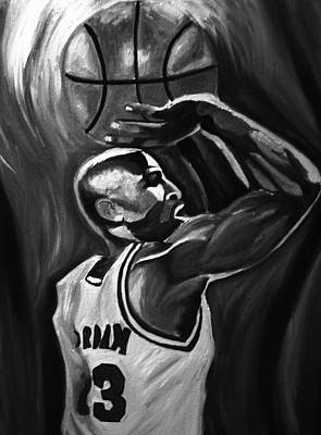 Jordan Painting - Michael Jordan 5 by Mikayla Ziegler