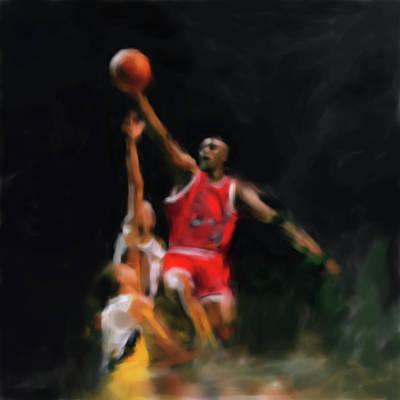 Michael Jordan Painting - Michael Jordan 548 1 by Mawra Tahreem