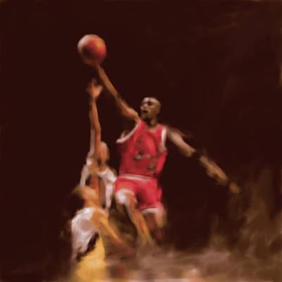 Michael Jordan Painting - Michael Jordan 548 2 by Mawra Tahreem