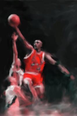 Michael Jordan Painting - Michael Jordan 548 3 by Mawra Tahreem