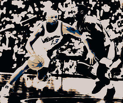 Patrick Ewing Painting - Michael Jordan And Kobe 3c by Brian Reaves