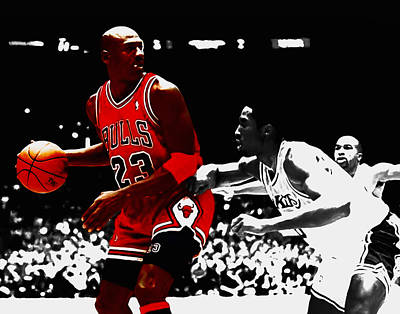 Michael Jordan And Kobe Bryant Art Print by Brian Reaves