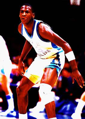Michael Jordan At Unc Art Print