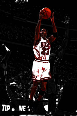 John Stockton Mixed Media - Michael Jordan Count It by Brian Reaves