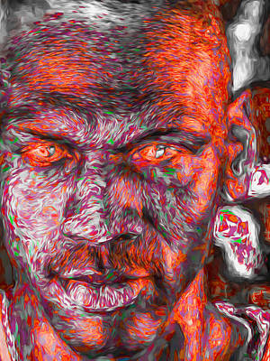 Photograph - Michael Jordan Digital Painting 2 by David Haskett