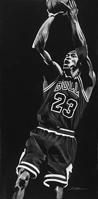 Lebron James Drawing - Michael Jordan by Don Medina