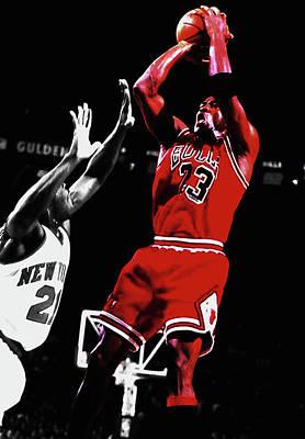 Michael Jordan Fade Away 1a Art Print by Brian Reaves
